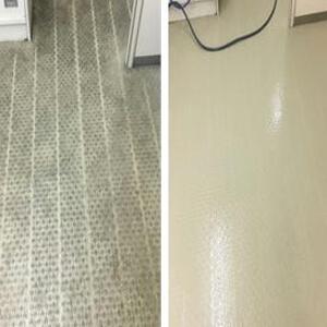 床のクリーニング