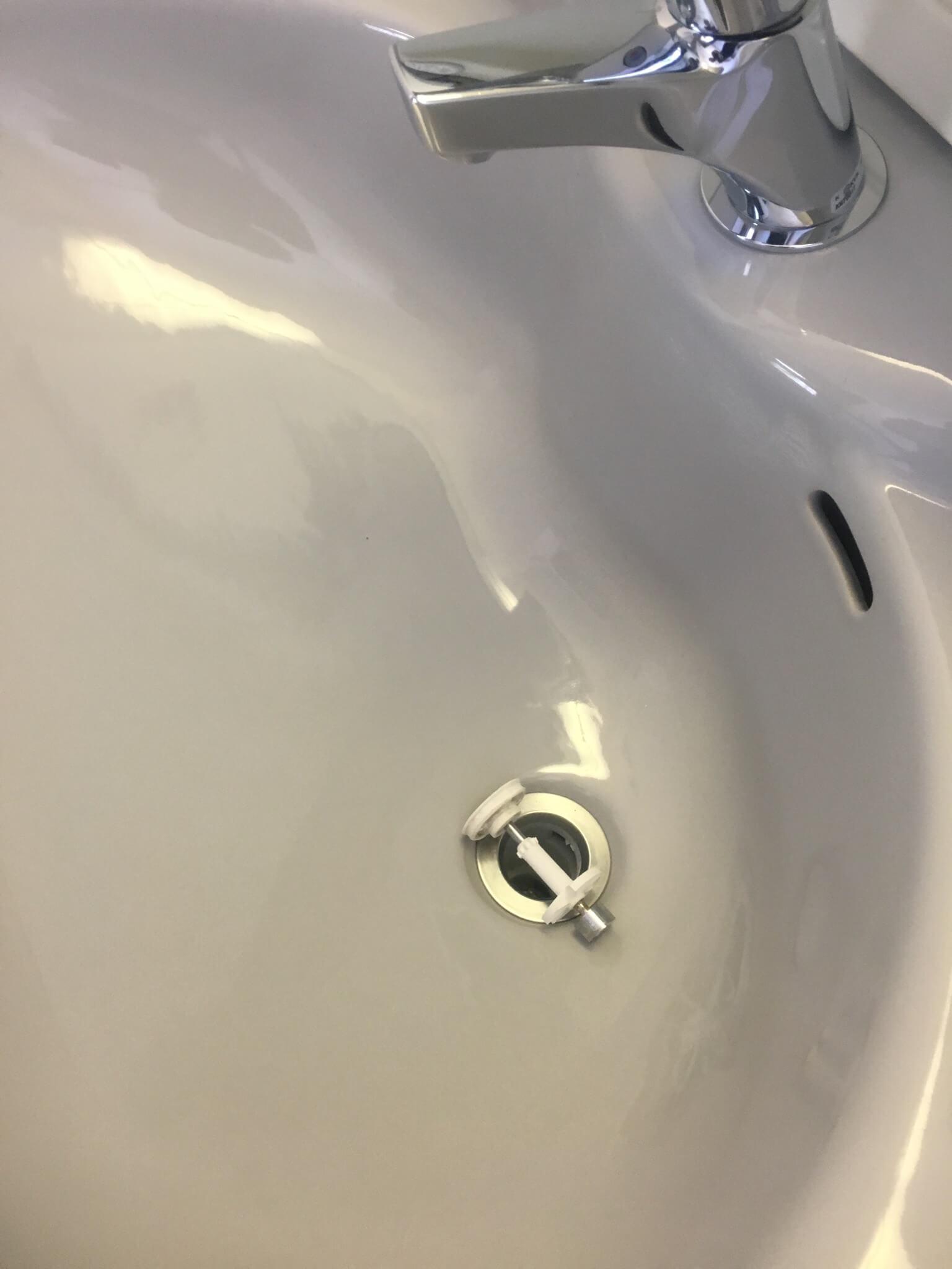 洗面台微粒子研磨洗浄