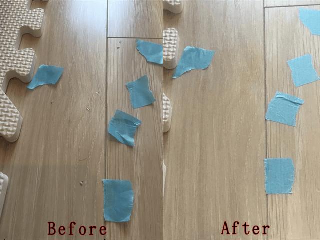フローリングの傷補修Before&After