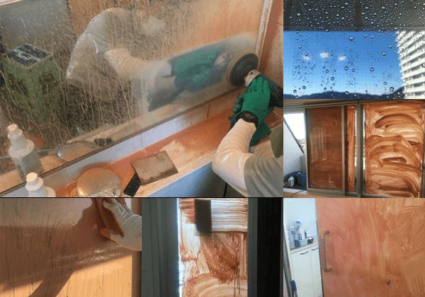 浴室鏡の曇り止め
