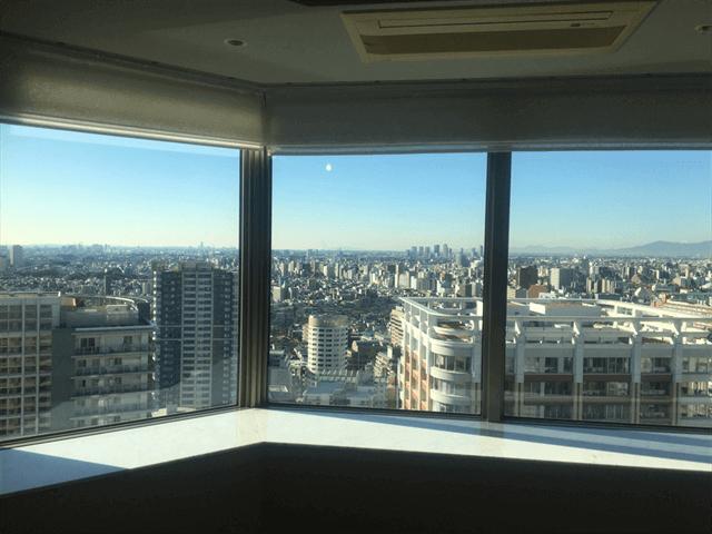 東京のタワーマンションガラス掃除