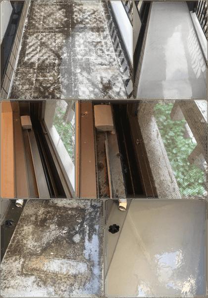 ガラスサッシ網戸ベランダバルコニー掃除