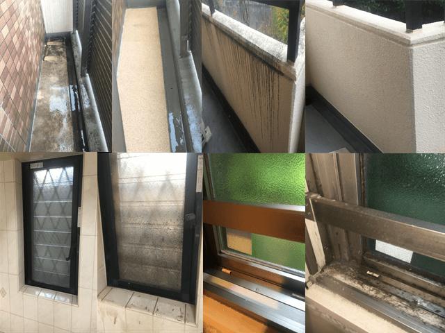 窓ガラスとベランダバルコニークリーニング