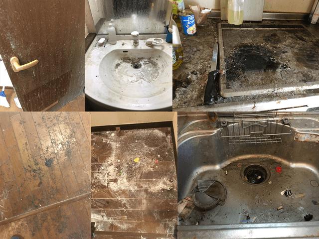 空室ハウスクリーニング汚れ