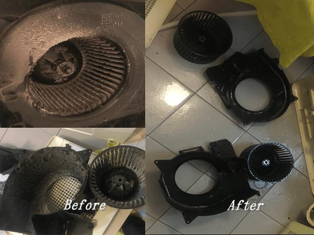 浴室換気扇洗浄Before&After