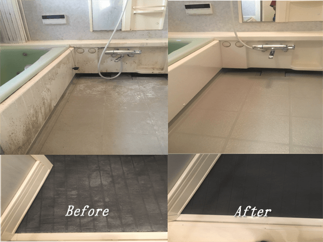 浴室バスタブ周辺と床Before&After